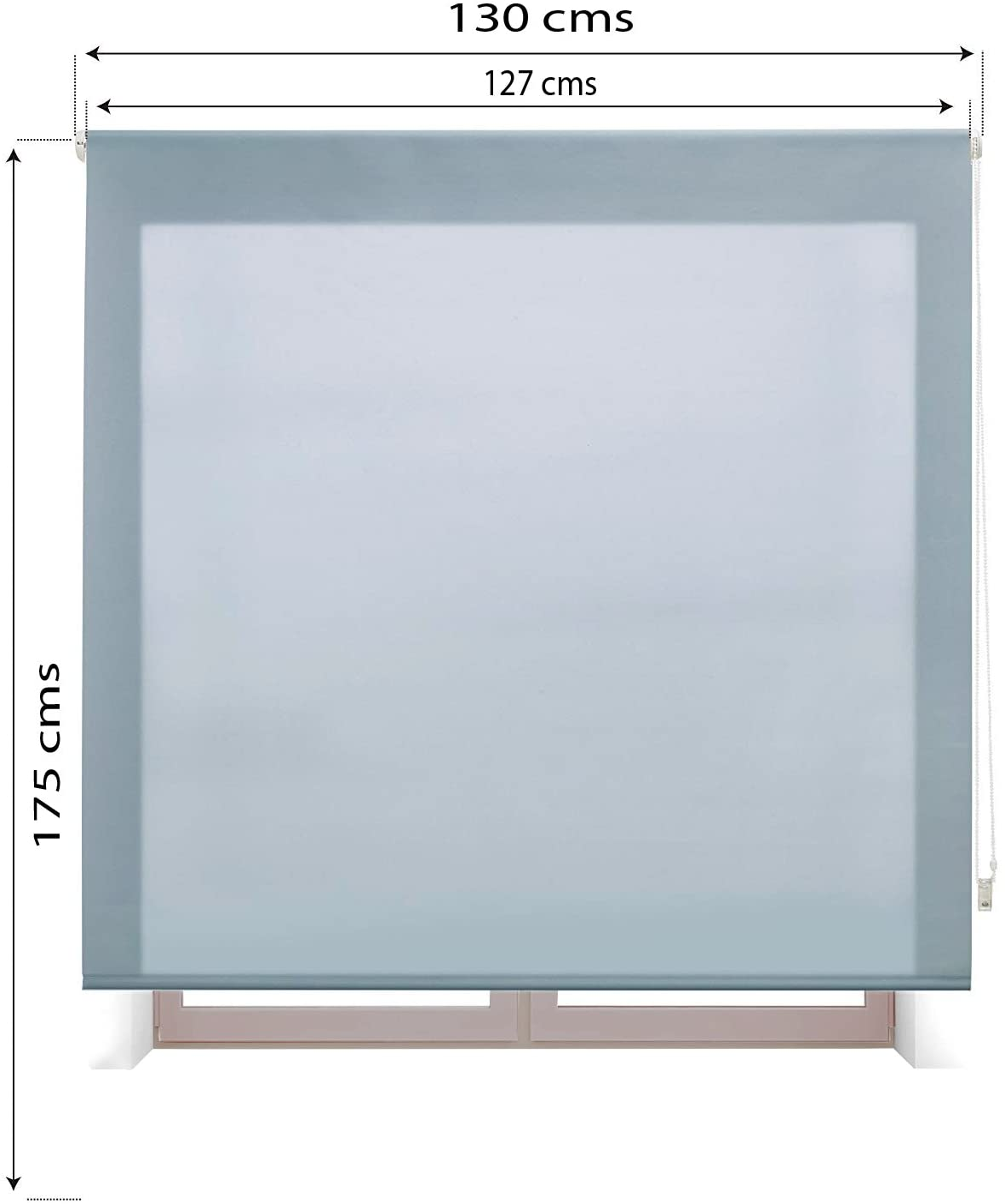 Estoralis MYRCELLA Tenda a Rullo Jacquard 110 x 175 cm Azzurro
