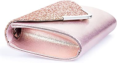Handtasche Silber Pailletten Clutch Clutch Abendtasche Glänzend Schultertasche Glitzer Geschenk für Damen Weihnachten Party