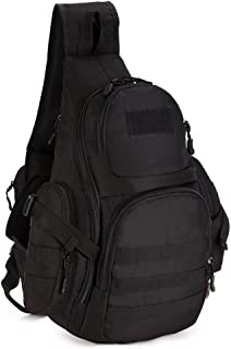 X-Freedom Military Sling Bag Chest Pack Tactical Chest Bag Shoulder Sling Backpack Bag MOLLE Large Sling Bag Pack One Strap Backpack Capacity Crossbody Bag for Laptops Hiking Camping Hunting Trekking