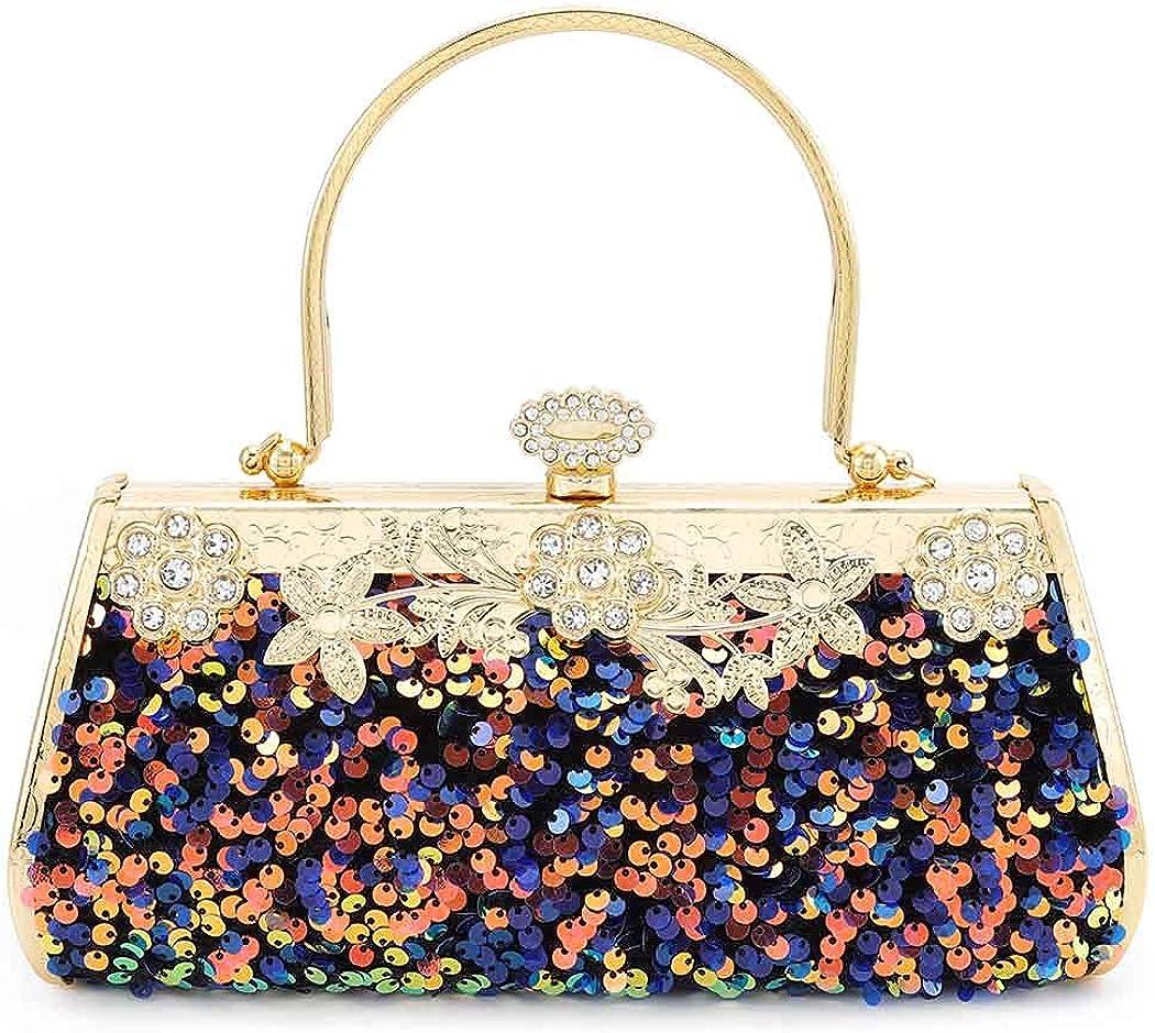 Sales Yokawe Women's Sequin Clutch Purse Glitter Evening Special sale item Wed Bag Bride