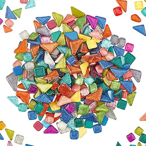 PandaHall Elite – 500 g Mosaico Cabujón de cristal Mosaico de formas mixtas para la fabricación de joyas y la decoración