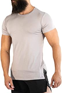 Mogogo Mens Short Sleeve Stretch Gym Activewear Breathable Athletic Tees Top