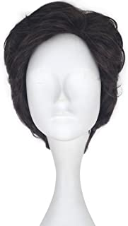Miss U Hair Adult Short Wavy Brown Fluffy Hair Movie Cosplay Costume Wig for Men C302