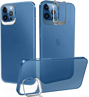 iPhone 12 Pro Max Case with Ring Kickstand,[Shock-Absorbing] [Scratch-Resistant] Hard PC Back + Flexible TPU Frame, for iP...
