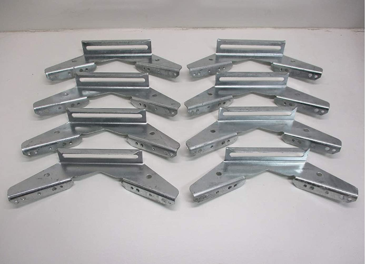 CTW (8) V Wing Pontoon Boat Trailer Bunk Bolster Brackets/Adjustable Galvanized