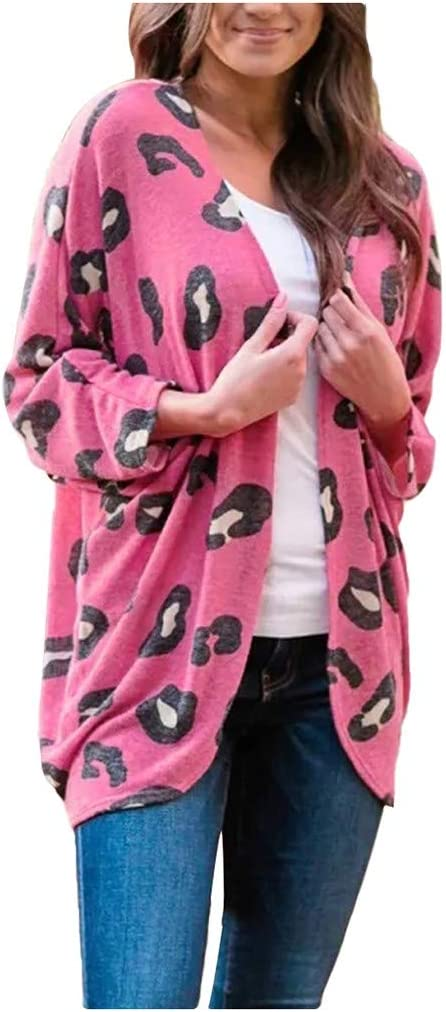 El Paso Mall PLENTOP 2022 Women's Long Sleeves Print Front Leopard Knitt Ranking TOP2 Open