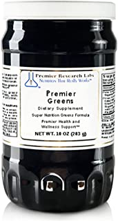 Premier Greens, 10oz Powder, Vegan Product, Gluten-Free - Super Nutrition Greens Formula with Power Grass-Plus Blend for Premier Health and Wellness Support