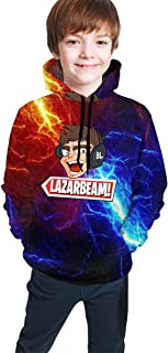 Boys Girl Lazarbeam Hoodies Novelty 3D Print Hooded Sweatshirts