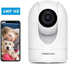 Foscam Home Security Camera R4S 4MP(2K) WiFi Camera, 2.4/5GHz Wireless IP Camera Baby..