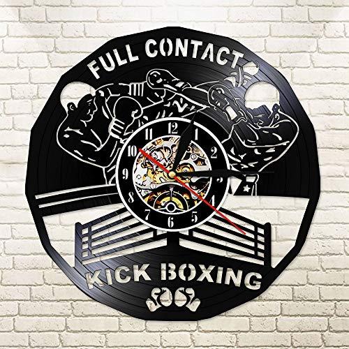 With LED-Vollkontakt Kickboxen LED Wanduhr Boxhandschuhe Boxsack Boxer Fighting Sports Boxer Gerüst Fitness Sutter