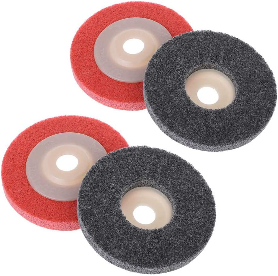 4 Pcs 100mm Nylon Limited time for free shipping Fiber Polishing T Disc Abrasive Grinding San Francisco Mall Wheel