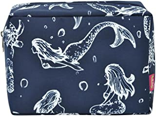 N. Gil Large Travel Cosmetic Pouch Bag 3 (Mermaid Navy Blue)