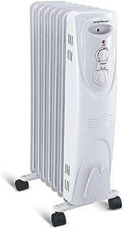 Aigostar Pangpang - Electric Radiator Filled with Oil 1500W Radiator Electric Heater 7-Fin Safe Heat 330000LCK
