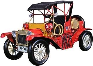 AIOJY Decoración Hoja de hierro retro Modelo de autos clásicos, Colección de manualidades antiguas Manual Decoración casera creativa Bar Café Armario Decoración Juguete Foto Recuerdo, adorno Obra de a
