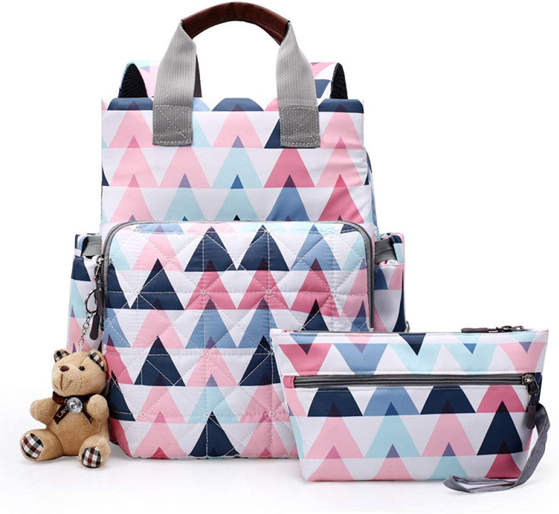 QWKZH Mama Tasche Mutter und Kind Mutter Umhngetasche tragbare Multifunktions groe Kapazitt aus Mode Schatz Mutter Rucksack