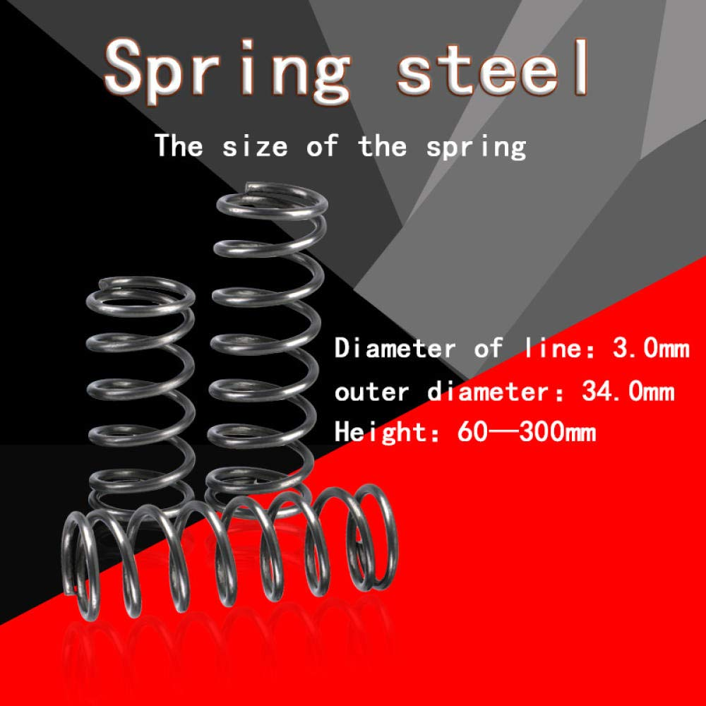 5Pcs wire 3.0 mm outside diameter 34 mm length 60 mm-300 mm return spring compression spring-100mm Compression spring