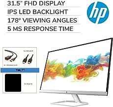 "$309 » HP 31.5"" HDMI/VGA 1080P 60Hz 5ms Anti-Glare LED IPS FHD Monitor (Black), Bonus Accessories"
