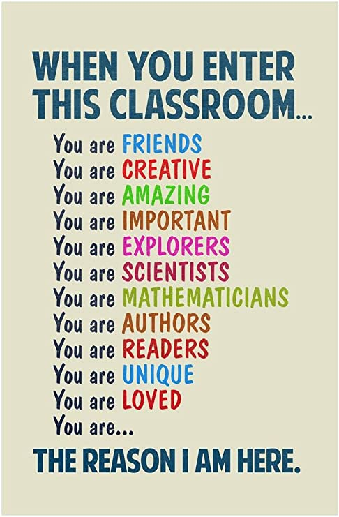 Amazon.com: Classroom Sign When You Enter This Classroom Educational Rules  Teacher Supplies School Decor Teaching Toddler Elementary Learning Teachers  Motivational Light Cool Huge Large Giant Poster Art 36x54 : Office Products