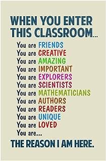 Classroom Sign When You Enter This Classroom Teachers Motivational Rules Light Cool Wall Decor Art Print Poster 24x36