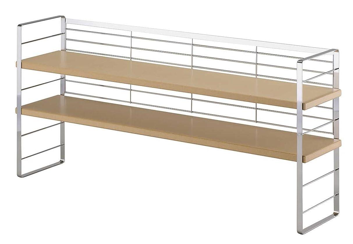 下村企販 出窓シェルフ 木棚 幅90cm 日本製 32034