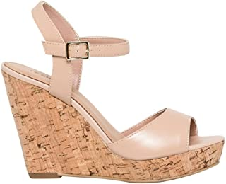 LE CHÂTEAU Chic Leather Wedge Sandal