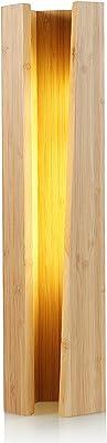 VVRUIER 間接照明 おしゃれ インテリア ベッドサイドランプ 和風 テーブルライト 寝室 リビング ルーム 授乳 卓上 スタンド 竹製