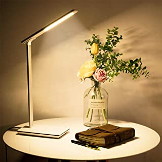 LED Desk Office Lamp,Table Lamps, Exclusive Model with Phone Wireless Charging, 4-Lighting Modes, USB Charging Port, Touch...