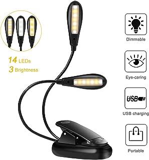 Ecloud Shop L/ámpara LED Flexo Ajustable para leer partituras Doble Luz LEDs con Pinza