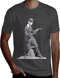 UESEU Men's Doris Day Picture Autograph Combed O-Neck Short-Sleeve T Shirts Designer Top Tees