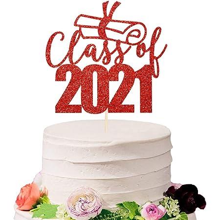GLITTER Grad Cake Topper Funny Cake Toppers 6 Graduation Cake Topper College Graduation Party Decorations