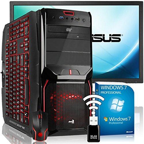 Agando Silent-Gaming-Pc-Komplettpaket | Amd A10-7850K Kaveri 4X 3.7Ghz | Turbo 4.0Ghz | Amd Radeon R7 370 2Gb Oc | 16Gb Ram Dvd-Rw | Usb3.0 | 60Cm (24