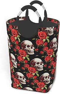 Crânes Roses Rouges Lot de vêtements Sales Panier à Linge Boîte de Rangement Résistant à l'usure et étanche pour la Famill...