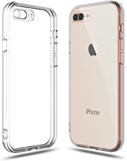 SHAMO'S Clear Shock Absorption TPU Rubber Gel Case (Clear) compatible with iPhone 7 Plus and iPhone 8 Plus
