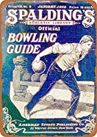 Official Bowling Guide 注意看板メタル安全標識注意マー表示パネル金属板のブリキ看板情報サイントイレ公共場所駐車ペット誕生日新年クリスマスパーティーギフト