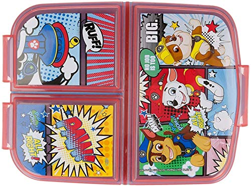 Paw Patrol New Design Kids Character 3 Compartment Sandwich Lunch Box...