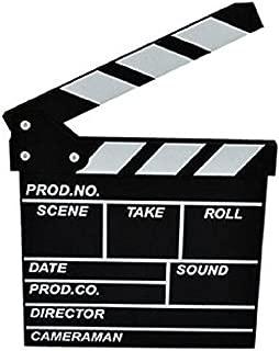 Marery wooden Clapboard Director Film Movie Cut Action Scene Slateboard Clapper Board Slate Black