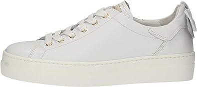 Nero Giardini - Sneakers Donna in Pelle con Platform e Fiocco - Bianco P907812D 707 - P907812D 707