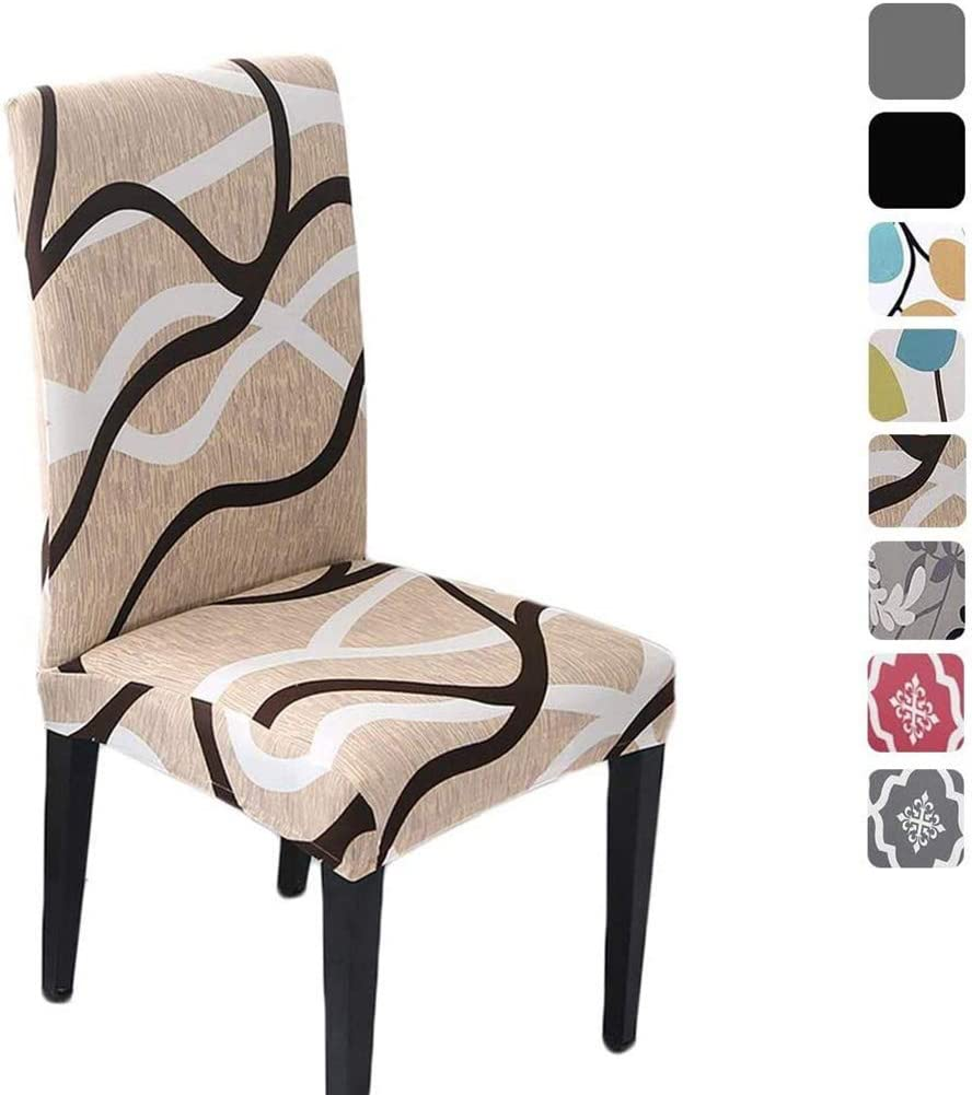 HZDHCLH 6 Pack Chair Covers for Room Soft Ranking TOP17 store Dining Spandex Removab