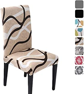 HZDHCLH 6 Pack Chair Covers for Dining Room,Soft Spandex Removable Washable Anti-dust Seat Slipcover, Protector for Hotel,...