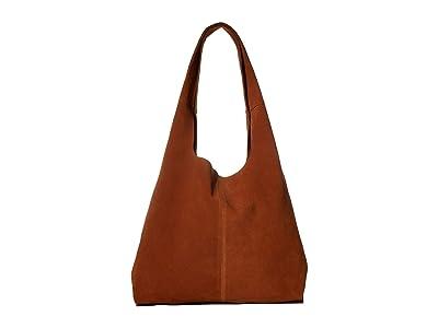 Shinola Detroit Market Hobo Suede (Cognac) Handbags