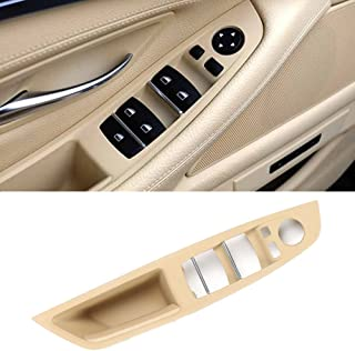 Jaronx Window Switch Armrest Panel, for BMW 5 Series Trim Grab Cover Armrest (Driver Side) Front Left Door Bracket (Fits:520 523 525 528 530 535 2010-2016) (Beige Color)