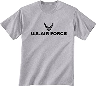 Air Force Short Sleeve T-Shirt in Gray