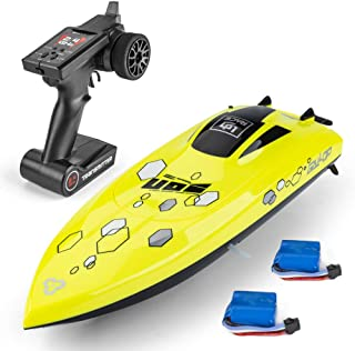 Ud08 Remote Control Boat: for Pools, Lakes & Rivers, Fast RC Boat for Adults & Kids with 2.4Ghz Radio Controller, Self-Rig...