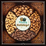 Jaybee's Holiday Nuts Gift Basket - Perfect for Holidays, Christmas, Thanksgiving, Birthday, Corporate Gifts - Contains Extra Large Cashews, Smoked Almonds, Toffee & Honey Roasted Peanuts - Kosher