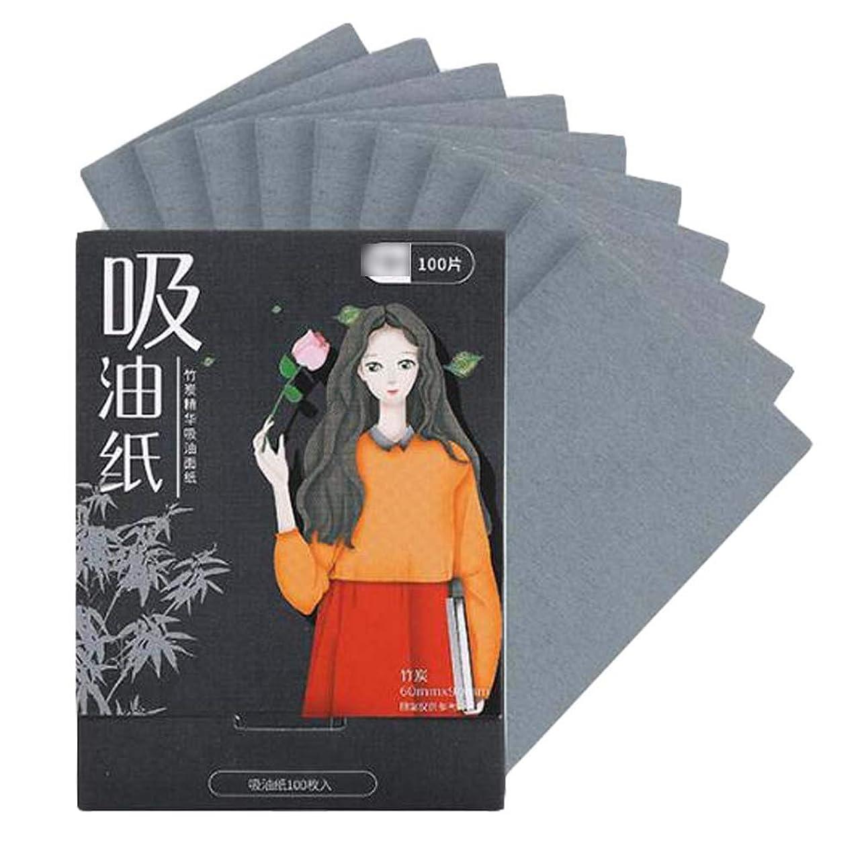 利点抑制する種をまく顔のための女性竹炭あぶらとり紙、200個