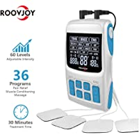 Roovjoy R-C1 3-in-1 TENS Unit, EMS and Pulse Massager