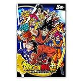 XWArtpic Klassische Cartoon Anime Dragon Ball Super Saiyajin Poster Goku Ultra Leinwand Malerei...