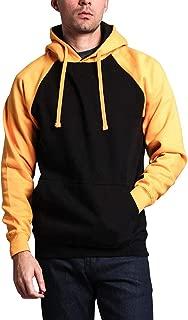 Premium Heavyweight Contrast Raglan Sleeve Pullover Hoodie Sweatshirt
