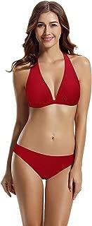 zeraca Women's Halter Triangle Bikini Bathing Suits