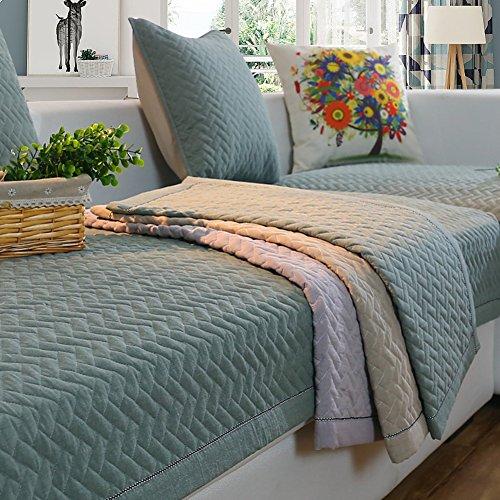 YUMUO Funda de sofá de felpa de color sólido, lavable de algodón para cuatro estaciones de tela de cuero antideslizante para sofá funda para sofá de sala de estar, funda completa – A 70 x 90 cm